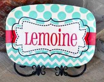 Personalized Monogram Platter | Monogrammed Serving Platter | Wedding Gift | Housewarming Gift