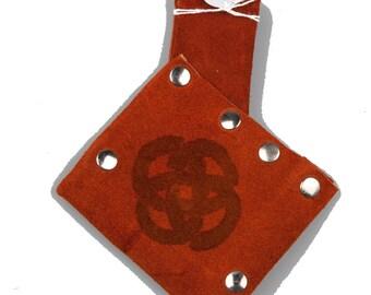 Small suede leather scabbard orange larp ren faire sword holder game of thrones