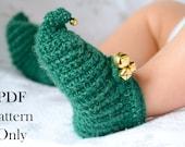 Jolly Elf Booties Baby Booties Christmas Crochet Pattern Instant PDF download