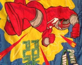 Power Rangers Flannel STANDARD PILLOWCASE - Reclaimed Bed Linens