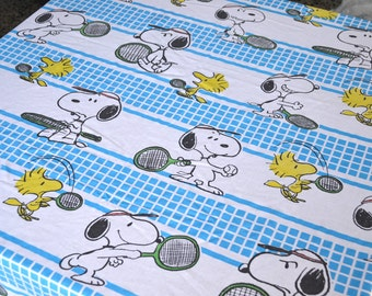 Items Similar To Vintage Peanuts Twin Flat Sheet Snoopy