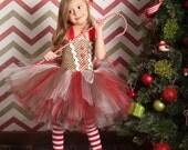 Gingerbread Girl Tutu Dress and Legwarmers- sz 0-5T