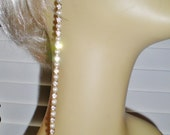 """Vintage Pearl & Crystal Rhinestone 7"""" Shoulder Duster Earrings Bride 1950s Jewels Something Old Art Nouveau"""