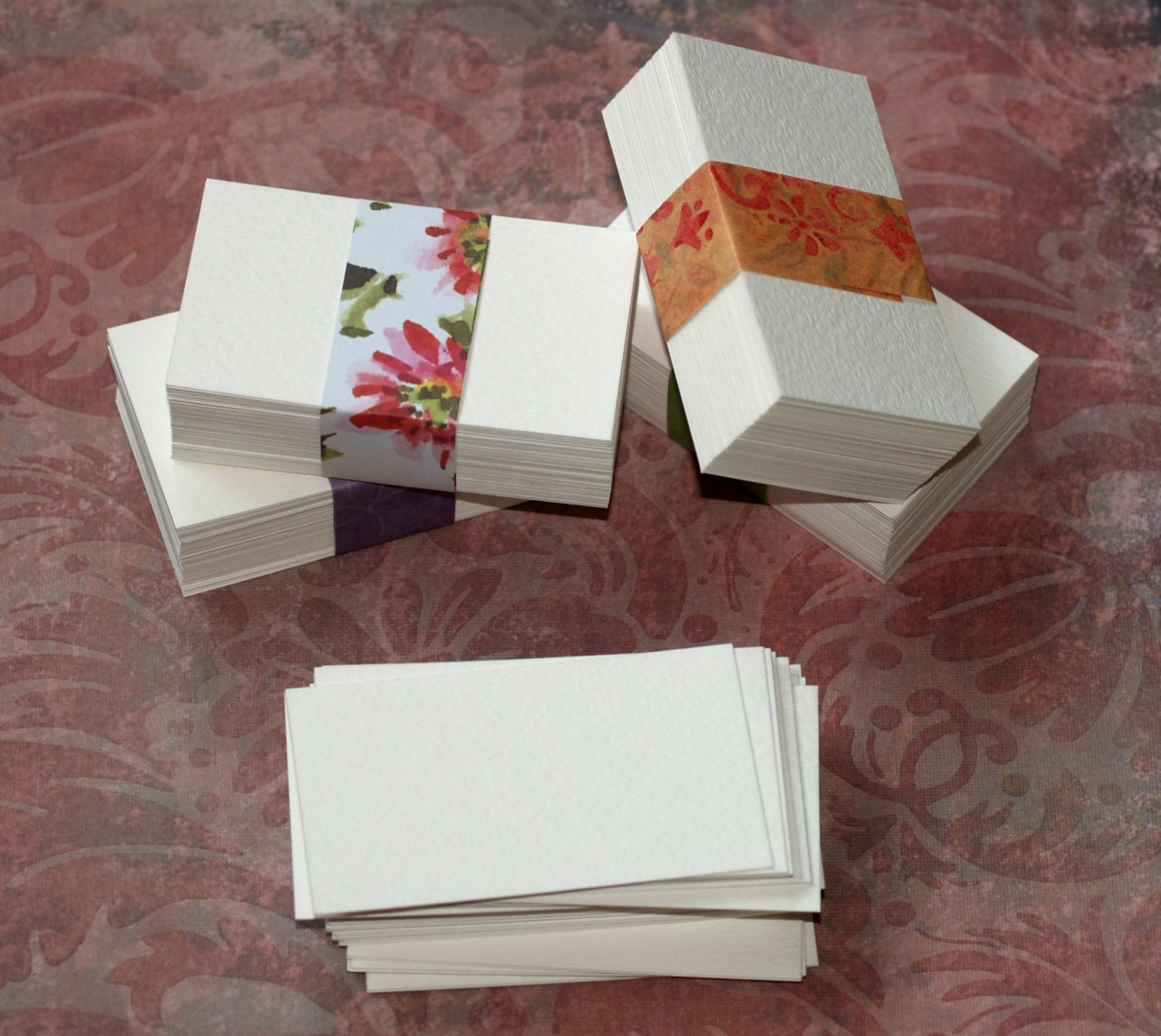50 Business Card Blanks Watercolor Paper Cold Press White