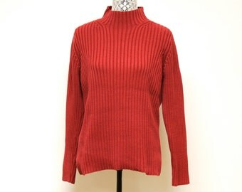 Vintage Red womens Ralph Lauren Womens sweater size small