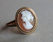 Antique 10k Carved Cameo Ring / BDA Budlong Docherty Armstrong