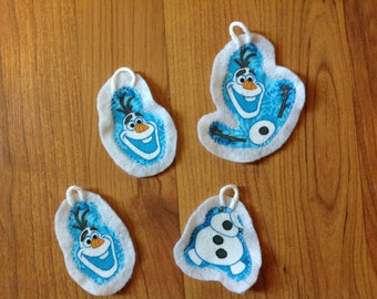 Frozen inspired christmas ornament set of 4 (not a licensed product) Olaf set 3