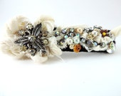 Barrette, Hair Accessory, Large Hair Barrette, Vintage Re Cycled Barrette, OOAK Barrette