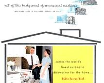 KitchenAid by Hobart Vintage 1950s Dish Washer Advertising Brochure Kitchen décor Men Women Children Fashions Accessories