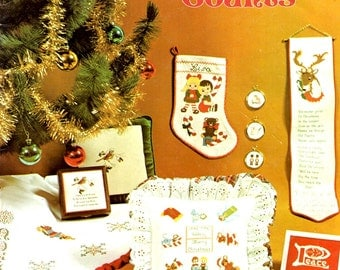 Christmas Counts Gingerbread Singer Teddy Bear Candy Cane Reindeer Stocking Wise Men Counted Cross Stitch Embroidery Craft Pattern Leaflet 3