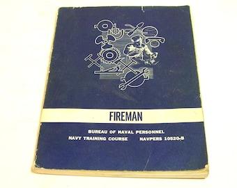 Fireman, Bureau Of Naval Personnel, Navy Training Course, 1960 Book