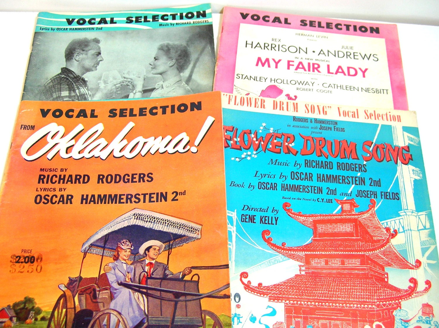 Vocal Selection Music Books Flower Drum Song South Pacific