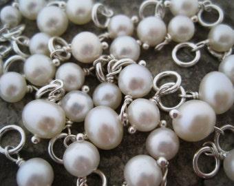 White Freshwater Pearl Charm