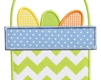 745 Easter Basket 2 Machine Embroidery Applique Design