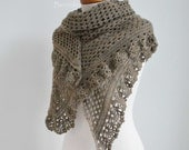 ASHLEY, crochet shawl pattern pdf