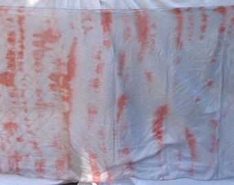 Silk Veil Peach Orange White Tiedye BlueMoonstone Bellydance