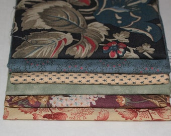 6 FAT QUARTERS Moda & more 100% cotton fabric for quilting