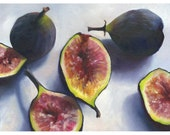 Figs art print of oil painting / reproduction of still life painting / Kitchen Wall Art Print / Home Decor / food art / gift for gourmet