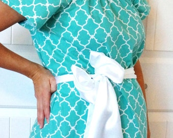Maternity Hospital Gown in Jayde - Perfect for Nursing and Skin to Skin - Choose Options - Ready to Ship