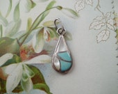 BOHO Silver MOP and Turquoise Pendant Supply Craft