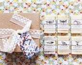 6 Soap Sample Gift Box // eco friendly gift box // soap gift set // cold process soap // natural soap // lightly scented // handmade soap