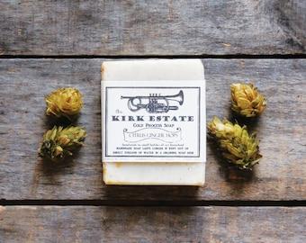 Citrus Ginger Hops // large bar // handmade soap // cold process soap // lightly scented // all natural soap // beer lover