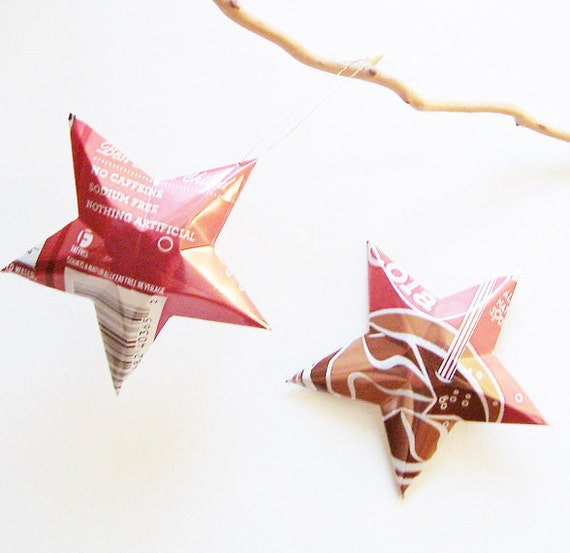 Cola Stars Christmas Ornaments  Soda Can Upcycled 365 Whole Foods or Sams