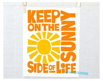 Keep on the Sunny Side of Life, Kitchen Art, Positive Wall Art