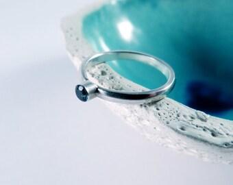 Blue topaz ring, London blue topaz silver ring, handmade ring, engagement ring, wedding ring, blue stone, gift for her, gift for women