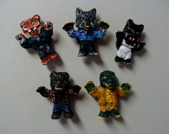 Werebeasts Refrigerator Magnet set A  (Full Body Cutie Style)