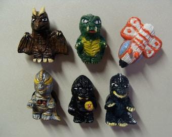 Dai-Kaiju(Giant Monsters) Refrigerator Magnet set A(fullbody/cutie style)
