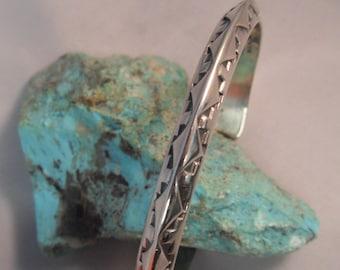 Ladies Vintage Rick Werito Sterling Silver Cuff Bracelet