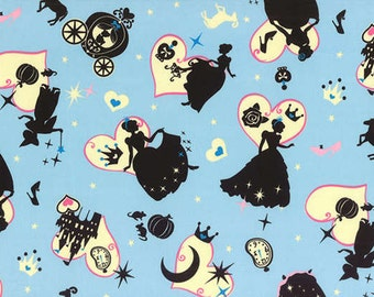 Girl's Story Blue  Cinderella  Cotton Fabric  by Lecien 40454-70