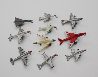 Vintage Japan Metal Diecast Miniature Airplanes
