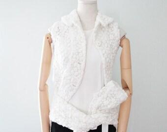 COMME des GARCONS Lace Jacket (White)
