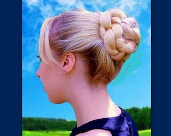 custom wedding hair piece bun cover bridesmaid accessories hairpiece bridal handmade hair braided formal updo chignon costume ballet dance
