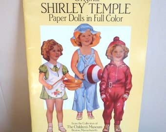 Vintage 1988 Collectible Original Shirley Temple Paper Dolls by Childrens Museum of Boston MINT