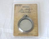 Jim Holtz Idea-ology Pocket Watch Locket, Pendant, Ornament, Necklace