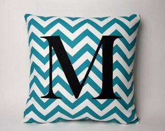 "Chevron Monogram - 18"" pillow"