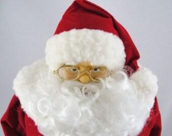 "Vintage Traditional Santa, Santa in red, 20"" tall standing Santa NOS"