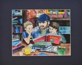 "Supernatural Sam and Dean Winchester Bobby Singer Print- ""I Adopted Two Boys"""