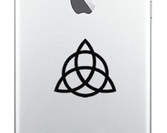 MINI Decals! Set of 5 Vinyl WALL ART Decal Triquetra Pagan Wiccan New Age Trinity Knot