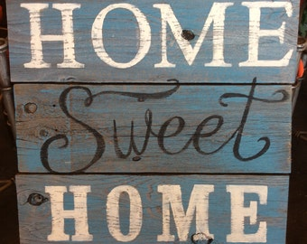 Rustic wood hand painted sign