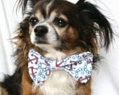Pet Bowtie Nautical themed Anchor red white and blue