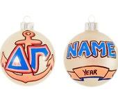 Personalizable Delta Gamma Ornament with Anchor