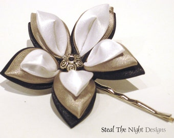 Grayscale Starlily Hair Ornament