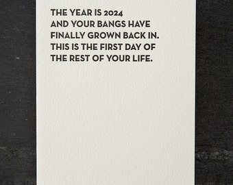 bangs. letterpress card. #122