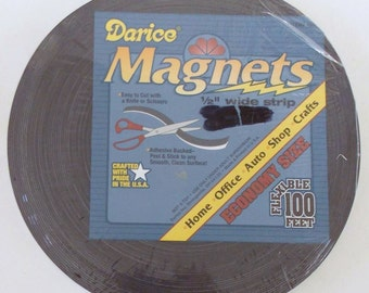 10 Feet Darice Magnets Strip, Adhesive Backed, Craft Magnets