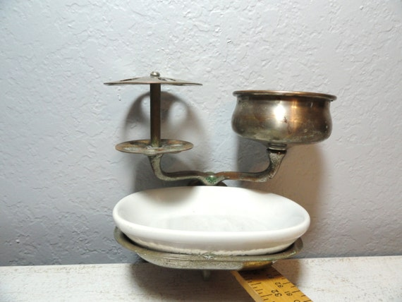 Soap Dish Architectural Salvage Vintage Metal And Porcelain