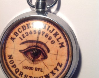 Vintage Ouija Board Pocket Spinning Game Pocket Watch Style